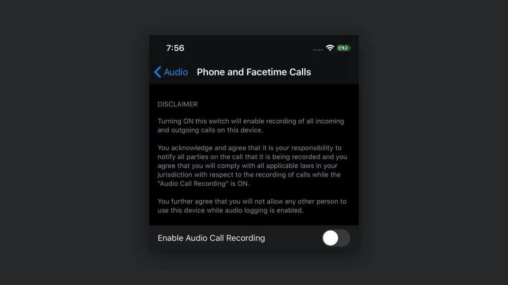 Call Recording iOS 14 蘋果工程人員證實iOS 14增加通話錄音功能僅供內部測試使用