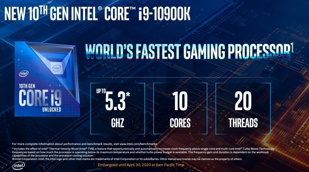 截圖 2020 04 30 下午1.37.34 Intel更新第10代Core i S系列桌機處理器,加入全新超頻設計對應更高核心時脈運作需求