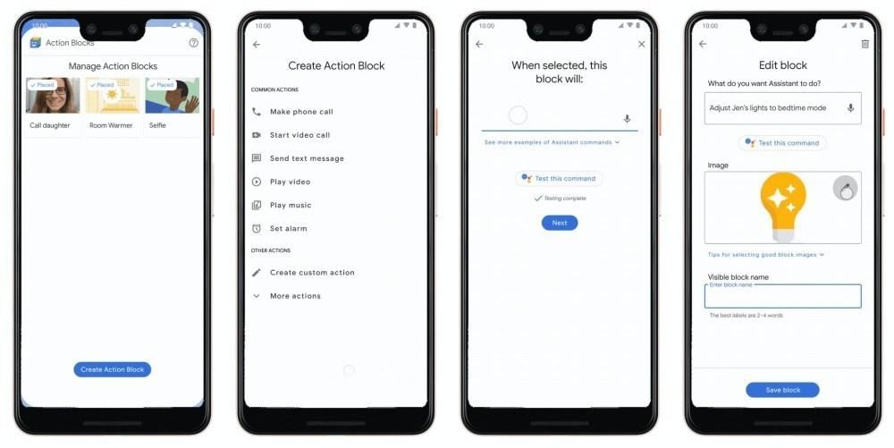 1 2 Google更新Android無障礙功能,點按就能執行複雜操作的Action Blocks開放使用