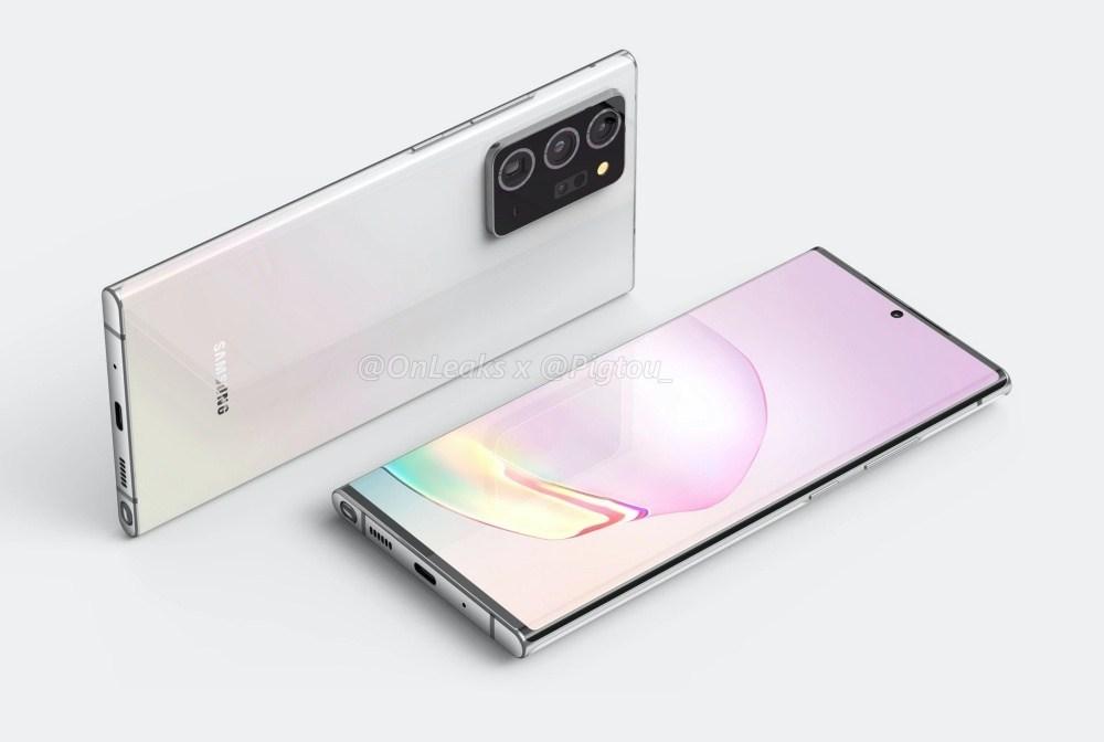 Galaxy Note20 Plus 4K3 2048x2048 以諸多傳聞打造的渲染圖像,呈現Galaxy Note 20系列新機可能外觀