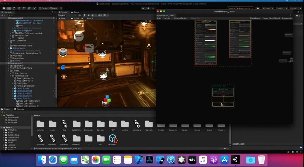 WWDC Unity Spaceship Capture Unity將針對Apple Silicon處理器提供合適遊戲引擎設計方案