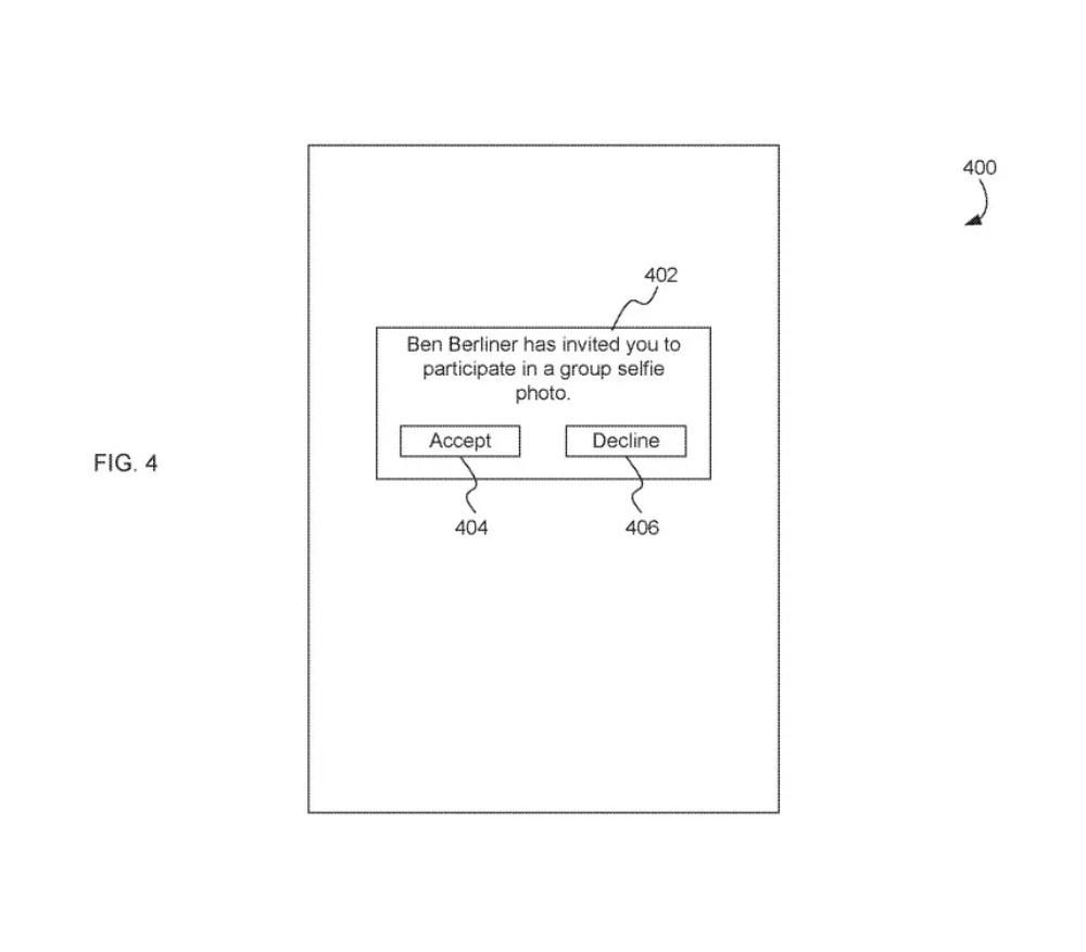 patent2 蘋果新專利:讓使用者與不在現場的人一起「參與」合照