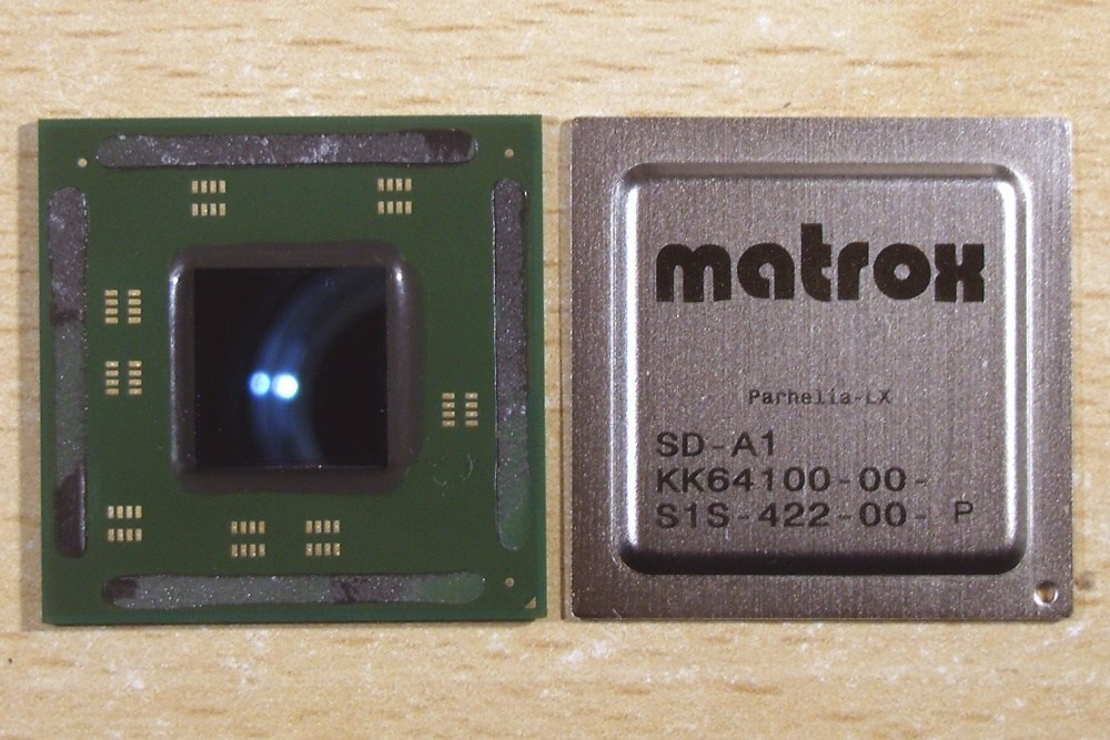 Matrox Parhelia LX SD A1 GPU and IHS 採NVIDIA GPU客製化設計,Matrox以D系列專業繪圖卡再次競爭市場