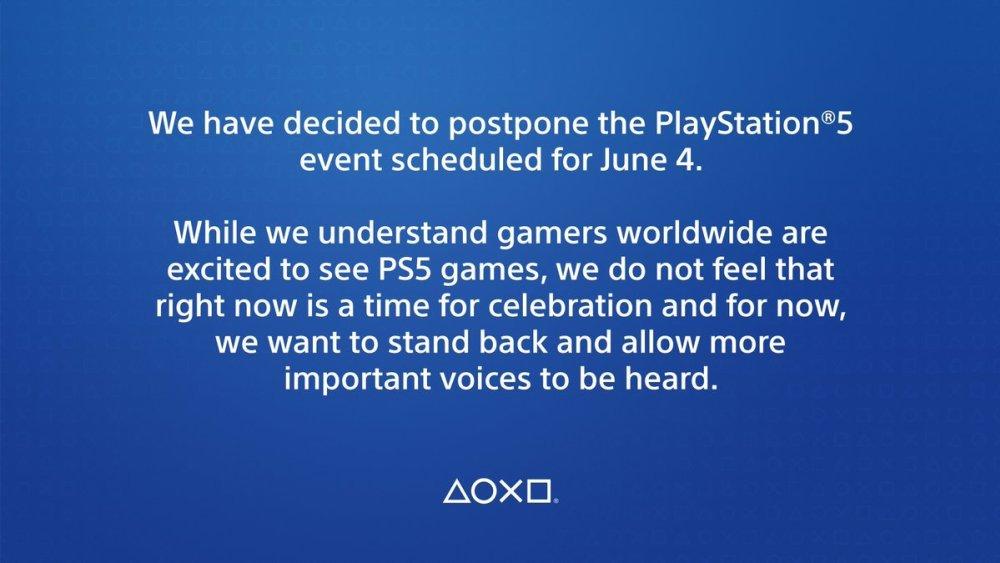 Sony確定延後原訂6/5凌晨舉辦的PlayStation 5線上發表活動