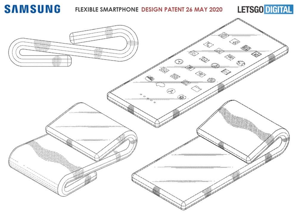 opvouwbare smartphone 1024x732 三星也提出Z字凹折的手機設計專利,但與TCL想法略有不同