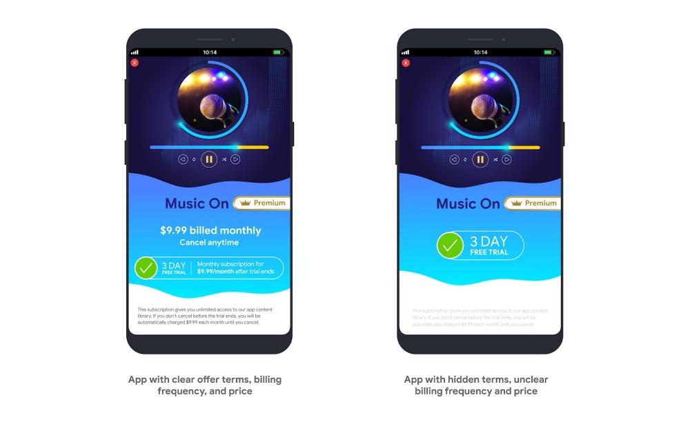 Subsmocks3200 Google Play Store使用政策更新,禁止私下記錄用戶隱私、主動提醒訂閱計費