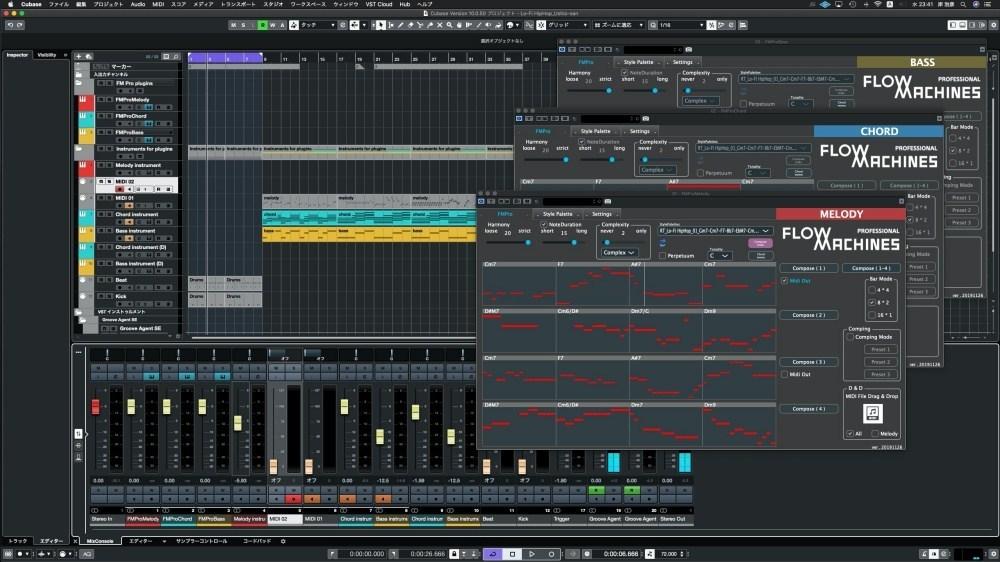 FMPro in Cubasemixing Sony打造音樂製作服務FlowMachines,以AI協助編曲者激發更多創作靈感
