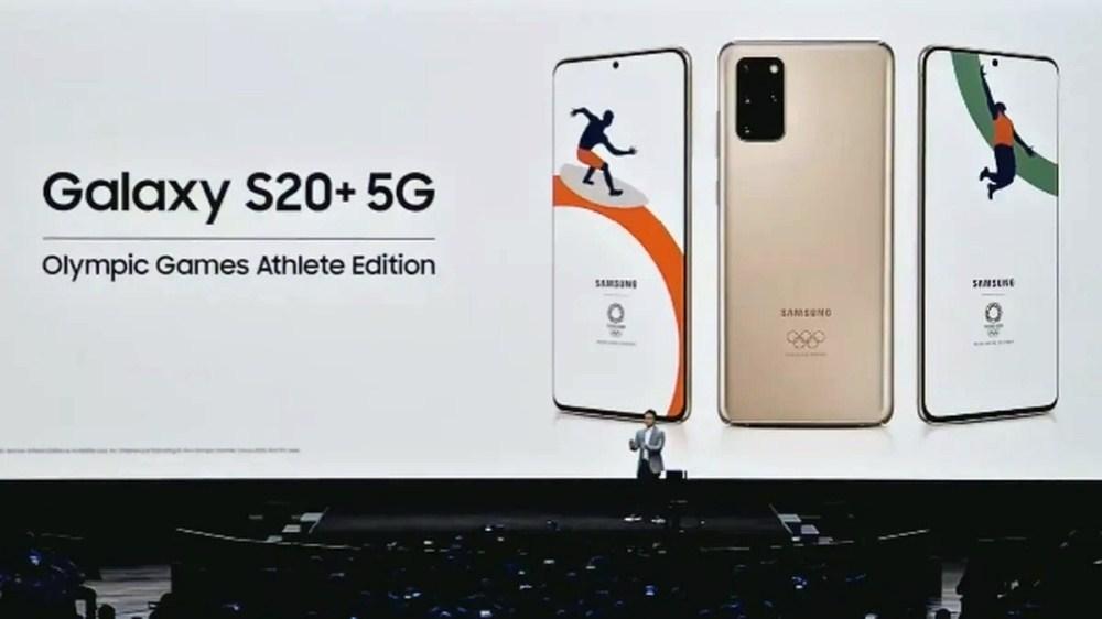 23 原本計畫配合NTT Docomo資費銷售的Galaxy S20+ 2020年東京奧運客製版取消上市