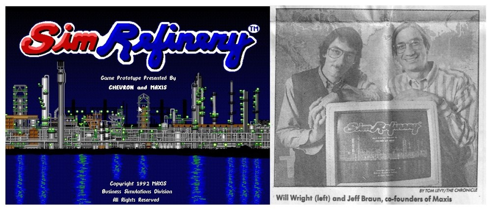 simrefinery listing side 1024x439 Maxis早期針對雪佛龍油廠員工訓練需求打造的遊戲復出