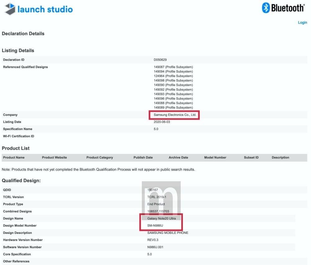 mashdigi capture 2020 06 03 下午11.34.52 藍牙認證文件顯示三星仍會推出Galaxy Note 20 Ultra