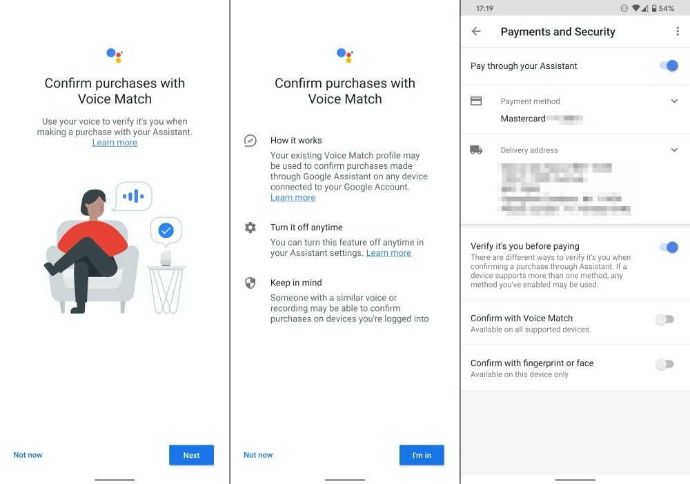 assistant payment voice match 2 side Google Assistant付款功能將加入聲音識別機制